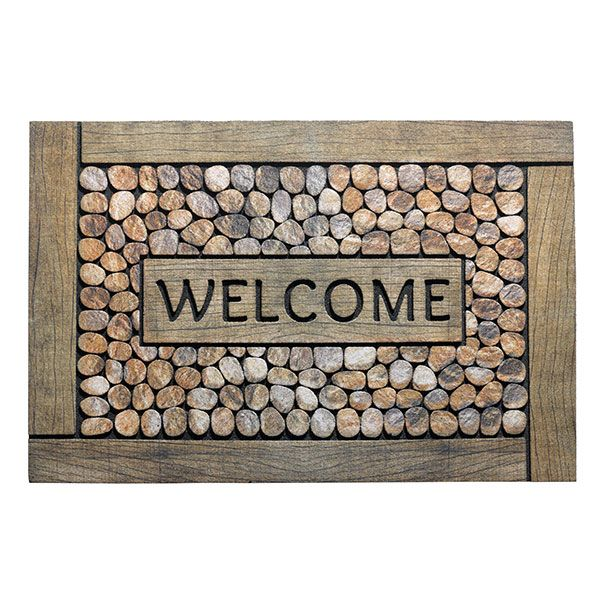 Decomat Pebbles Framed welcome decoratieve matten