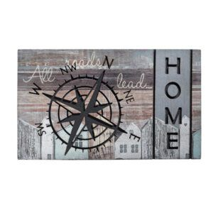 Decomat Compass Road Home decoratieve versierde matten